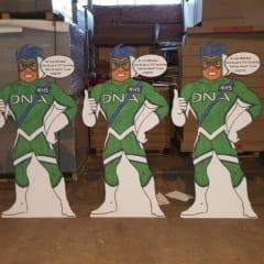 NHS promotional cardboard cutouts f