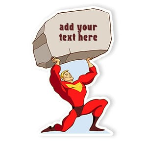 Super hero cardboard cutout