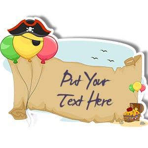 Pirate scroll cardboard cutout