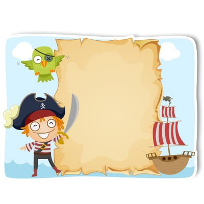 Personalised pirate party cutout