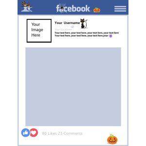 Halloween FaceBook selfie frame