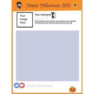 Halloween selfie Facebook frame