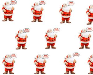 Personalised Christmas Santa Wrapping paper