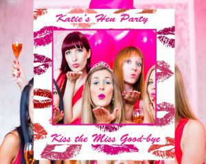 Hen's party selfie frame