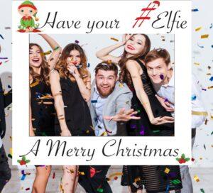 Xmas party selfie frame