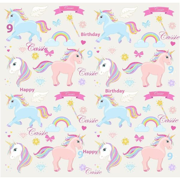 personalised unicorn wrapping paper