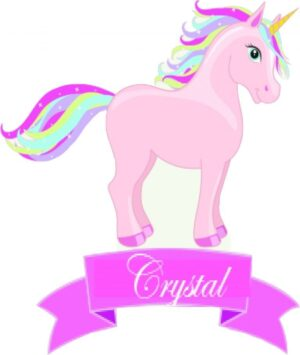 Personalised unicorn cutout