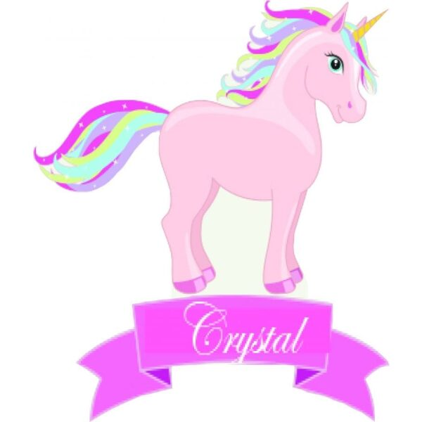 Personalised Unicorn Cardboard Cutout Party Prop