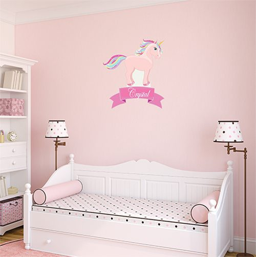 Personalised Unicorn Wall Mural Sticker