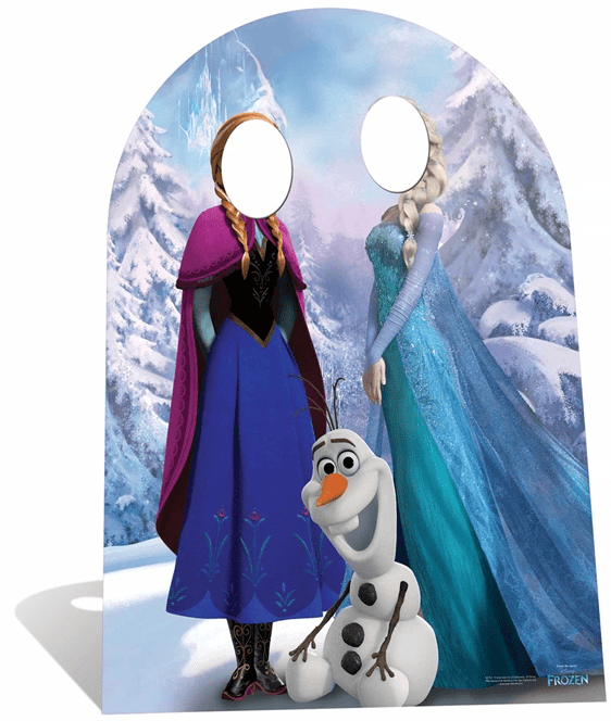 Frozen Stand In Child sized cutout