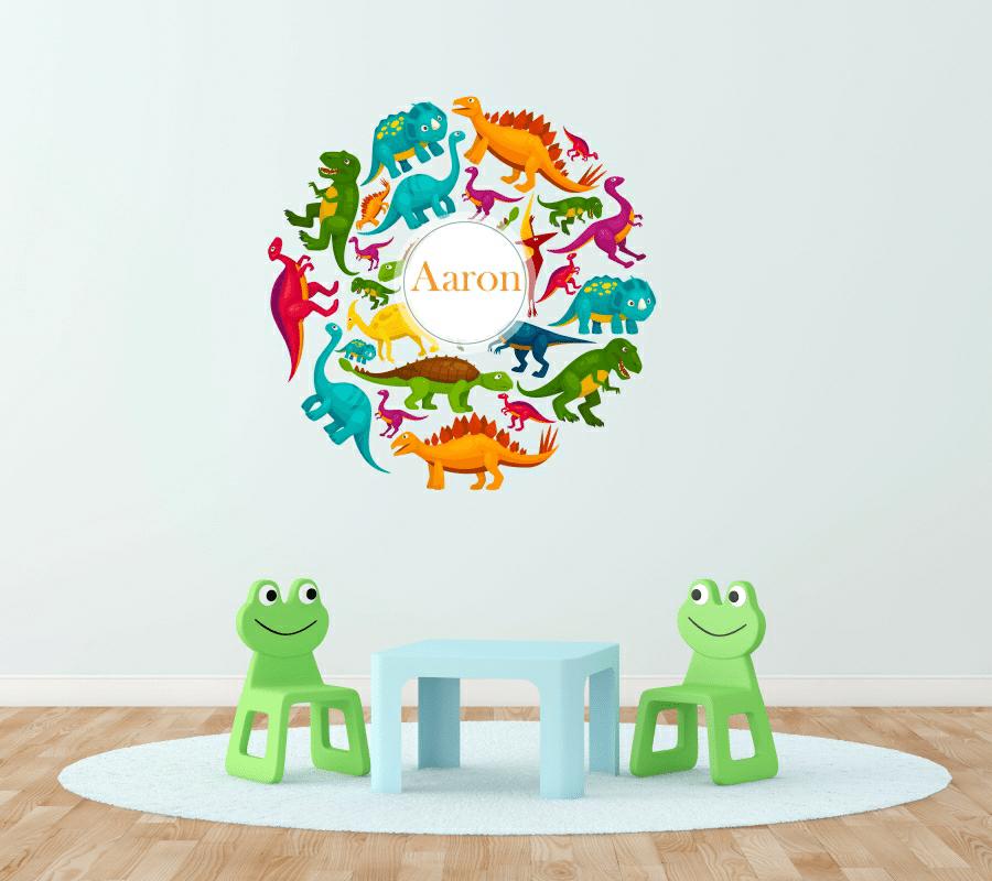Personalised Dinosaur wall sticker