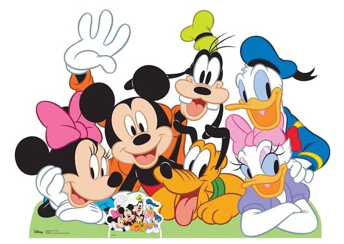 Disney character cutouts