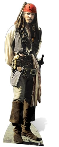 Captain Jack Sparrow cutout