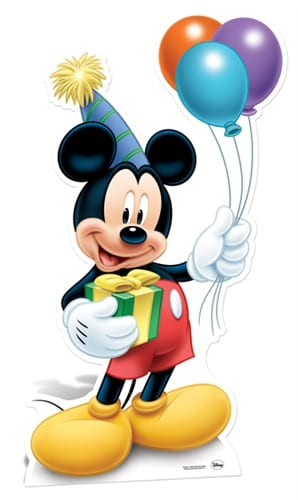 Mickey Mouse party cutout