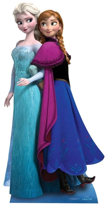 Frozen character cutout