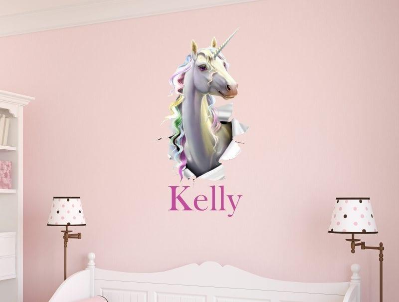 Personalised unicorn breakthrough sticker
