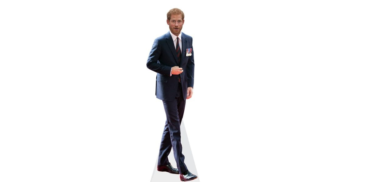 Prince Harry cutout