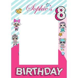 Lol doll Birthday Party selfie frame