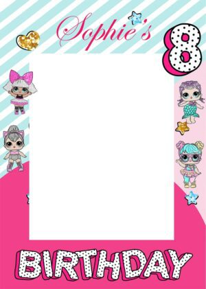 Lol doll Birthday Party selfie frame
