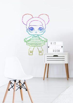 Lol doll Queen Bee sticker