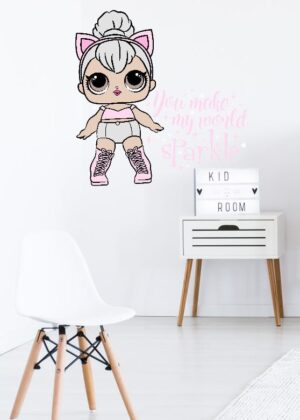 lol queen you make my world sparkle wall sticker